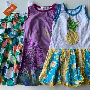 SLEEVELESS DRESSES FLOWERS AND PINEAPPLES SZ 5
